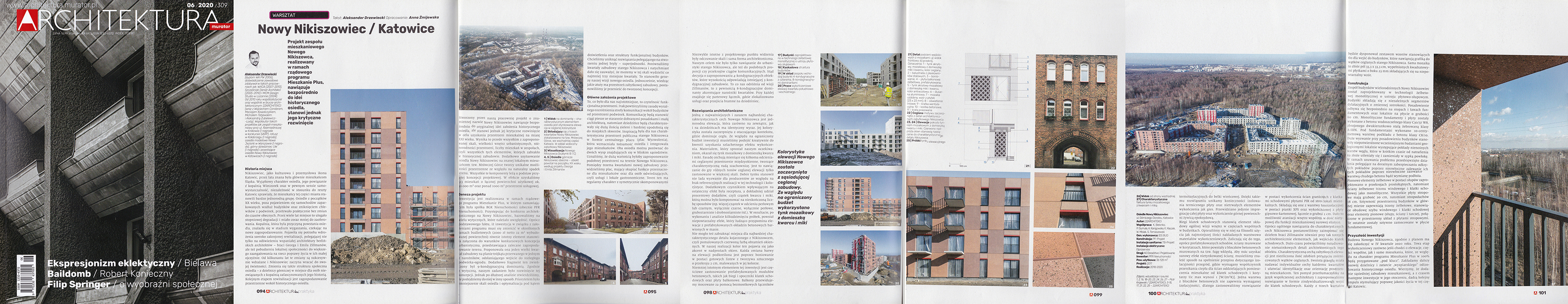 Nowy Nikiszowiec housing estate in Katowice - Architektura Murator 06/2020