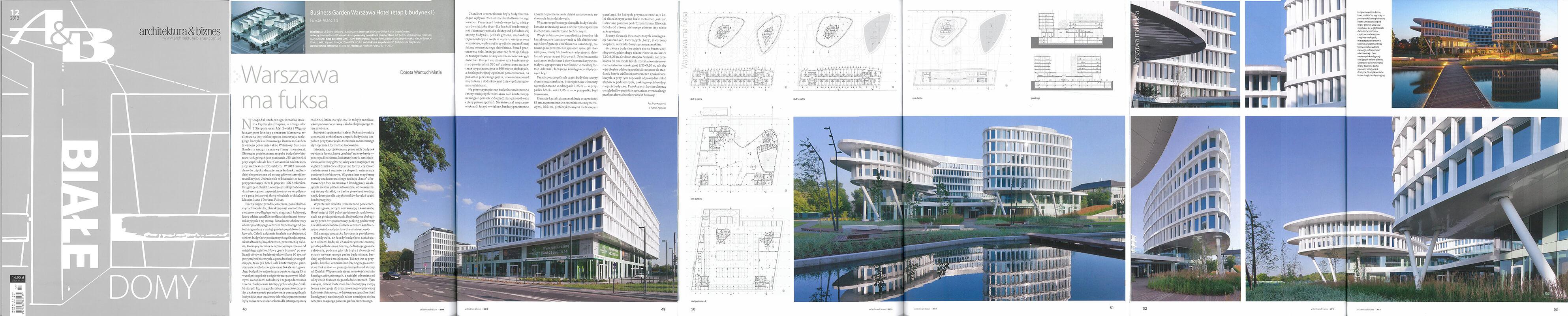 Business Garden in Warsaw - Architektura&Biznes 12/2013