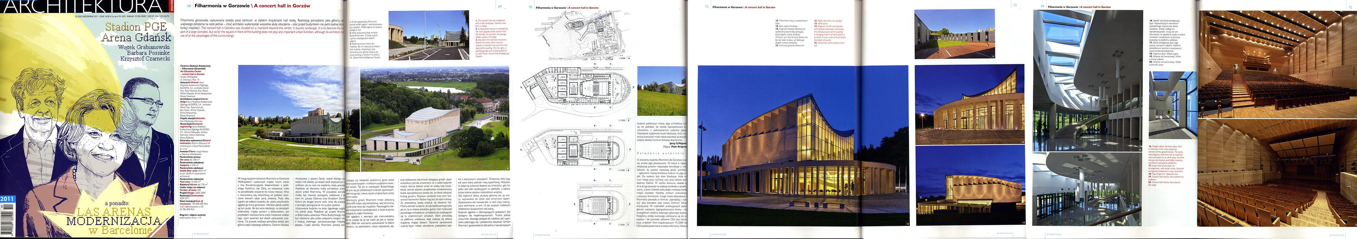 Philharmonic in Gorzów Wielkopolski - Architektura Murator 10/2011