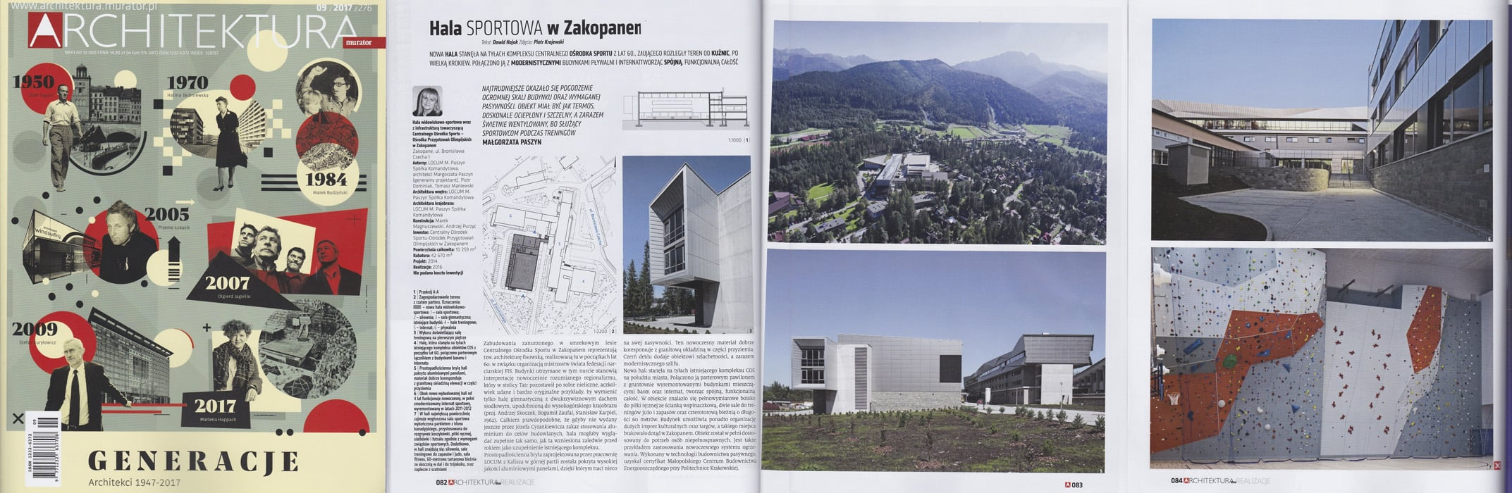 Sports hall of the Central Sport Center in Zakopane - Architektura Murator 09/2017